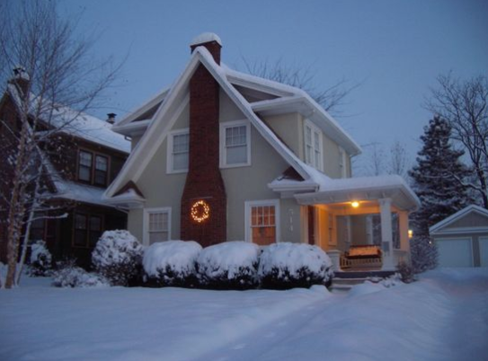 Winter Brookside Home